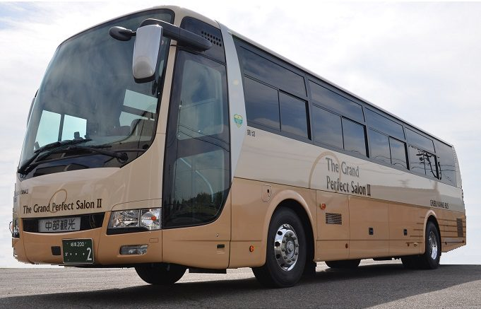 恵那市 中部観光株式会社 安全装備が充実 新車バス