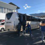 バス車両火災避難訓練と救命救護の実施について 恵那市 中部観光株式会社